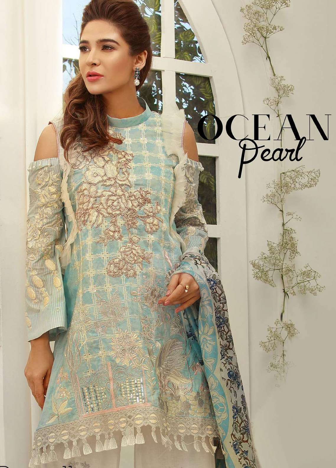 Rouche Embroidered Lawn Unstitched 3 Piece Suit RCH18L 11 - Spring / Summer Collection