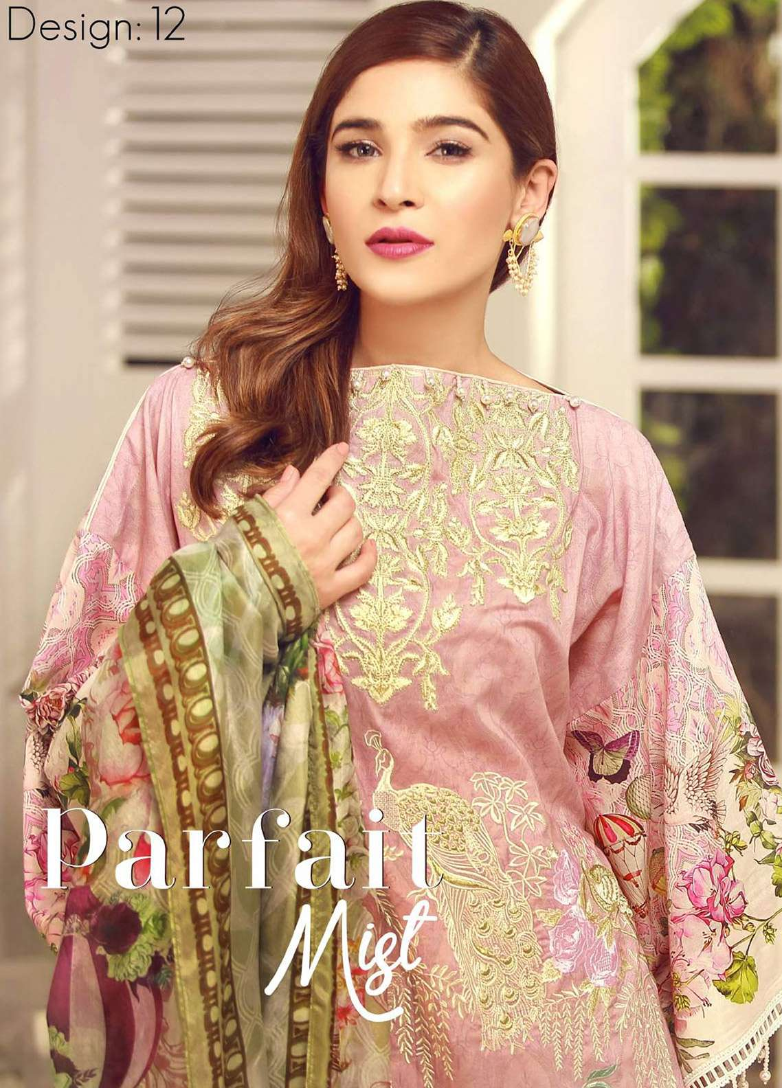Rouche Embroidered Lawn Unstitched 3 Piece Suit RCH18L 12 - Spring / Summer Collection