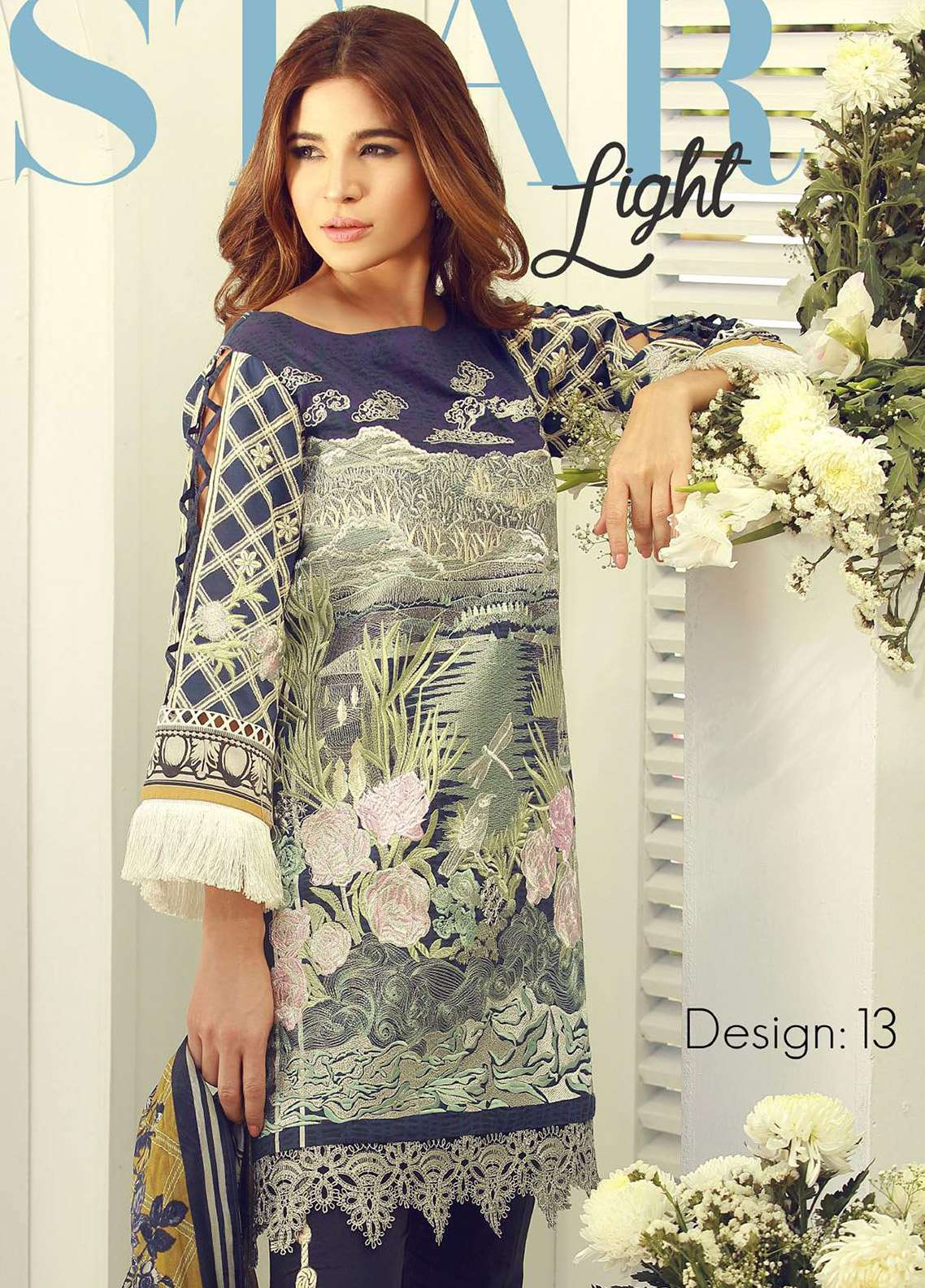 Rouche Embroidered Lawn Unstitched 3 Piece Suit RCH18L 13 - Spring / Summer Collection