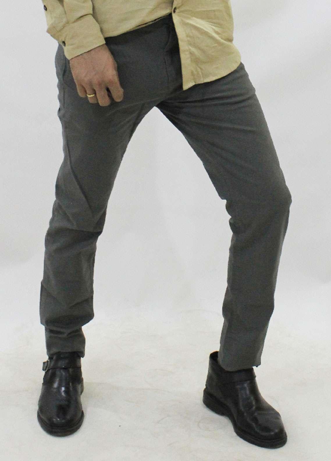 Red Tree Cotton Chino Men Pants - Grey RT5002