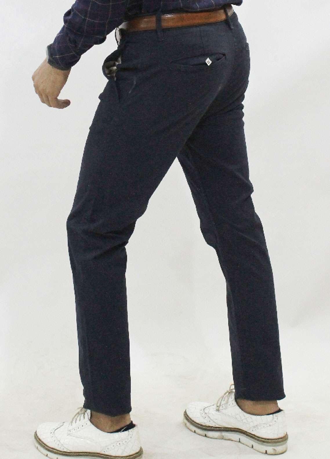 Red Tree Cotton Chino Men Pants - Navy Blue RT5004