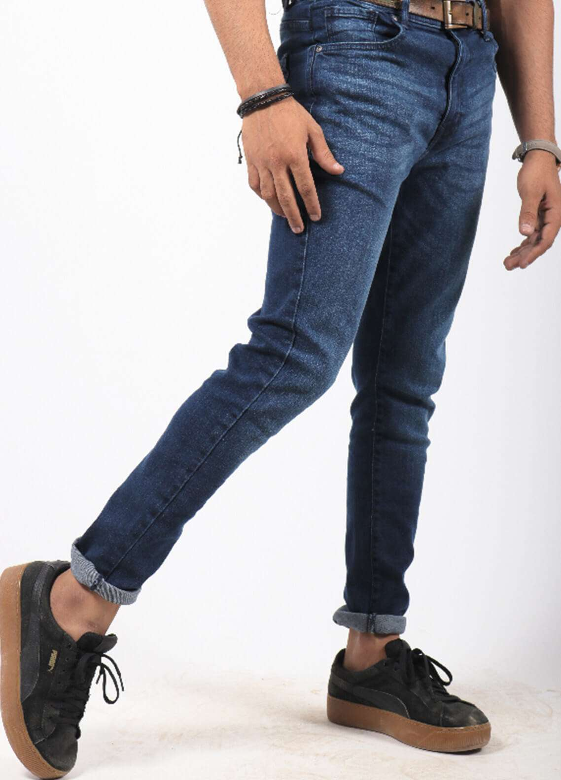 Red Tree Denim Casual Jeans for Men - Blue RTP162