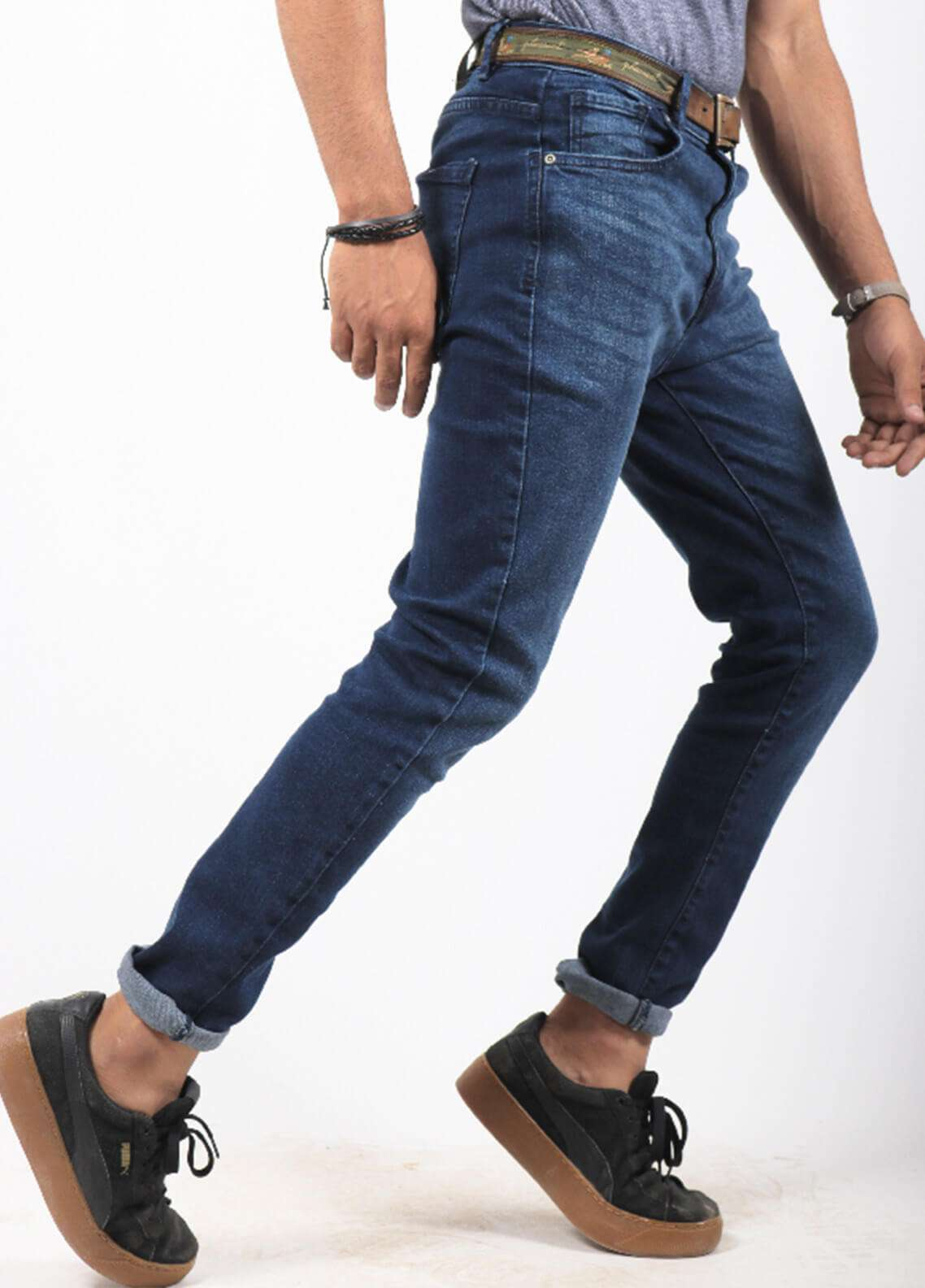 Red Tree Denim Casual Jeans for Men - Blue RTP164