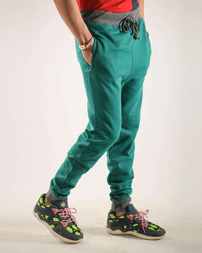 Red Tree Knitted Casual Trousers for Men - Green RT6018