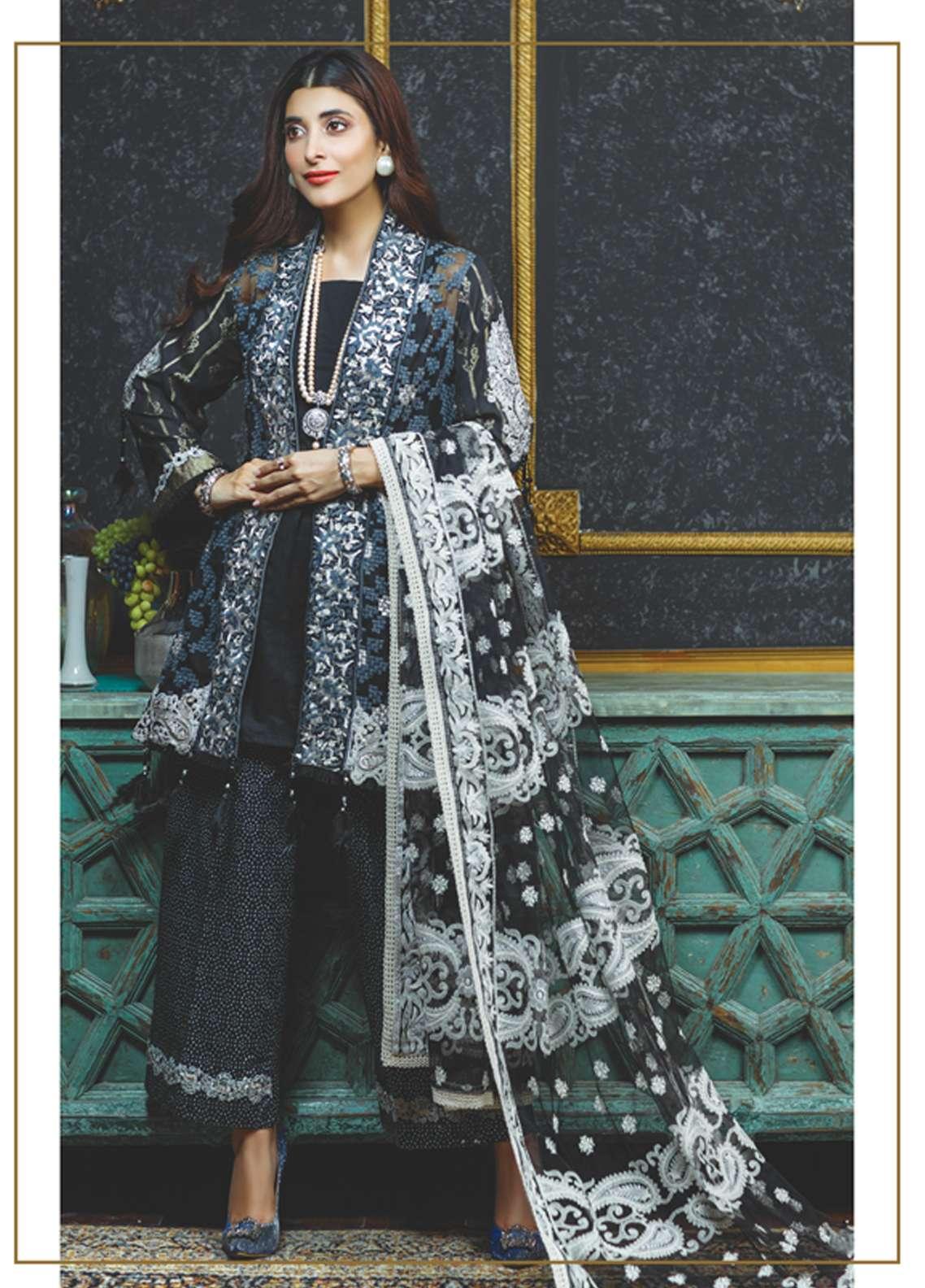 Rang Rasiya Embroidered Chiffon Unstitched 3 Piece Suit RGR18-E2 17B - Eid ul Azha Collection