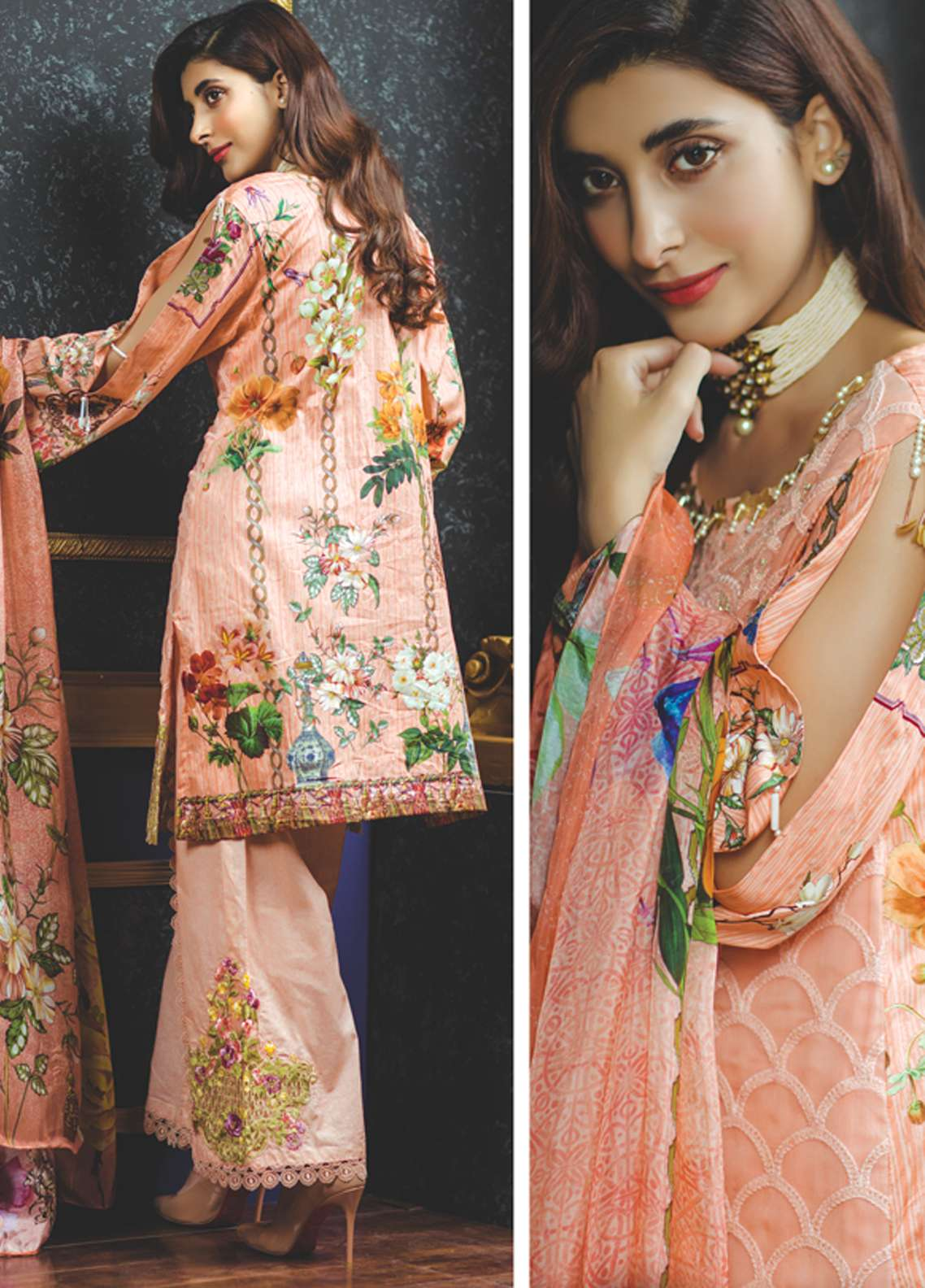 Rang Rasiya Embroidered Chiffon Unstitched 3 Piece Suit RGR18-E2 22A - Eid ul Azha Collection