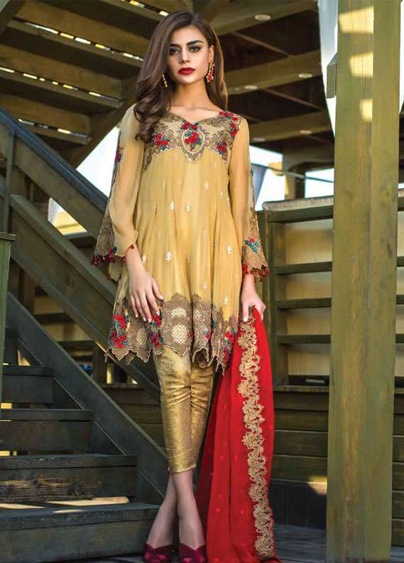 Reemal Khan Embroidered Chiffon Unstitched 3 Piece Suit RK18C 02