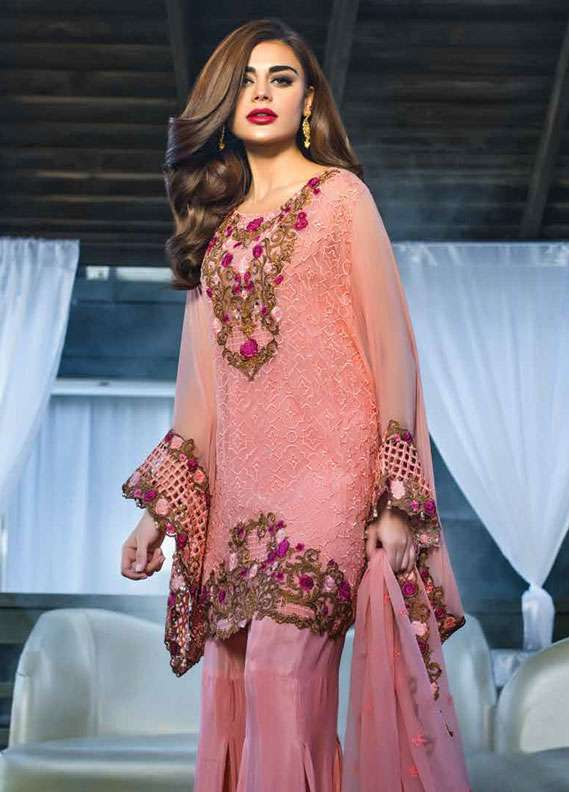Reemal Khan Embroidered Chiffon Unstitched 3 Piece Suit RK18C 04