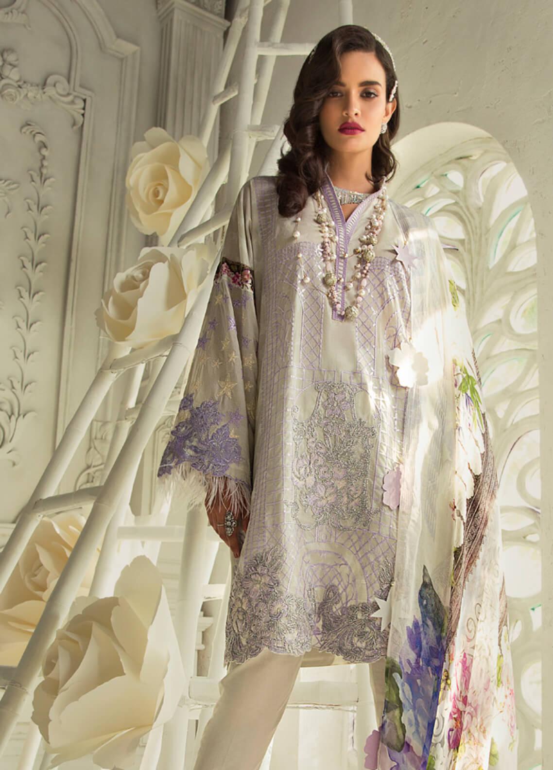 Rouche Embroidered Lawn Unstitched 3 Piece Suit RCH19L 11 VINTAGE GLOW - Festive Collection