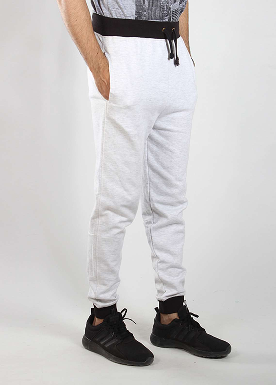 Red Tree Knitted Casual Men Trousers - White RTM18TR 6023