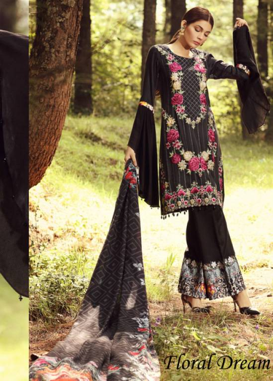 Noor by Saadia Asad Embroidered Marina Unstitched 3 Piece Suit SA17W 10