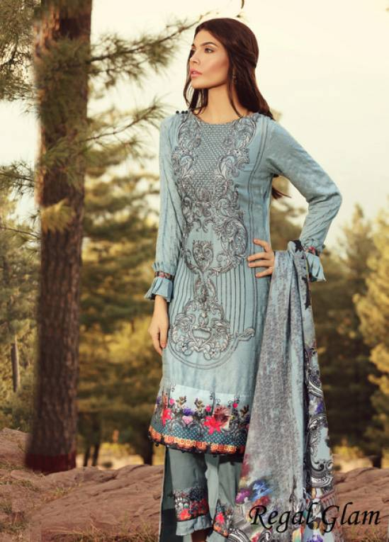 Noor by Saadia Asad Embroidered Marina Unstitched 3 Piece Suit SA17W 11