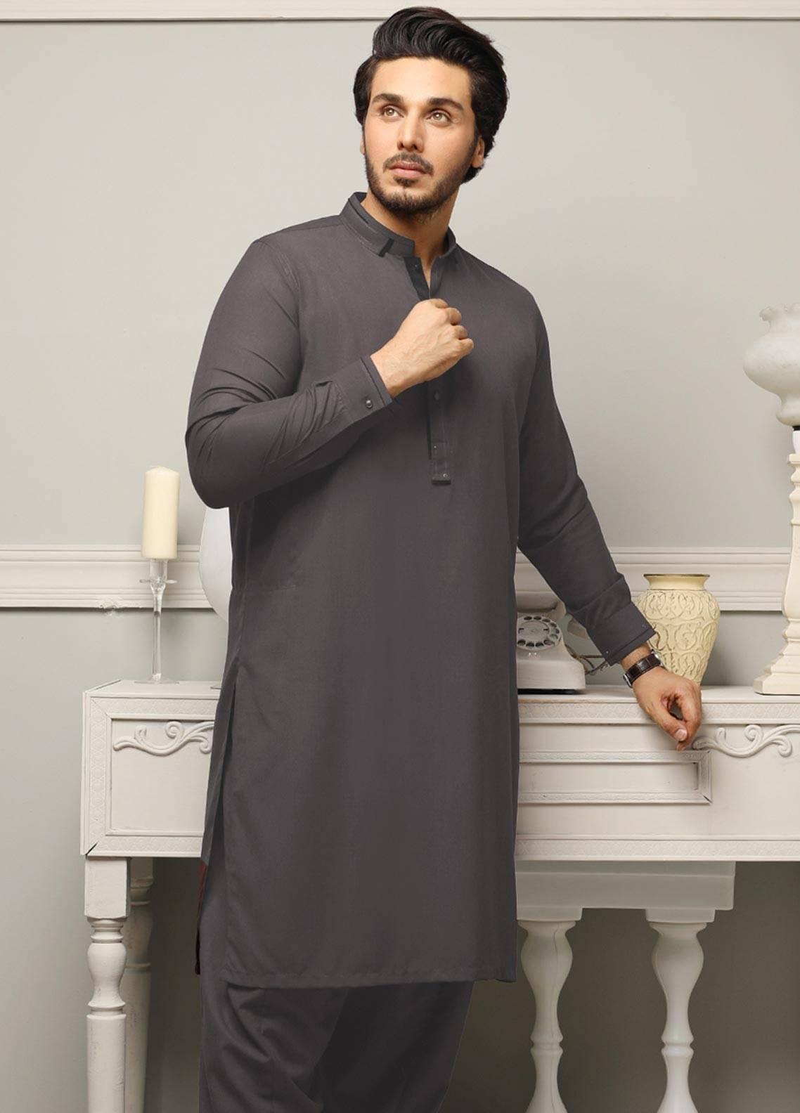 Safeer by Edenrobe EMUB18-GALAXY Blended Unstitched Men's Kameez Shalwar Fabric