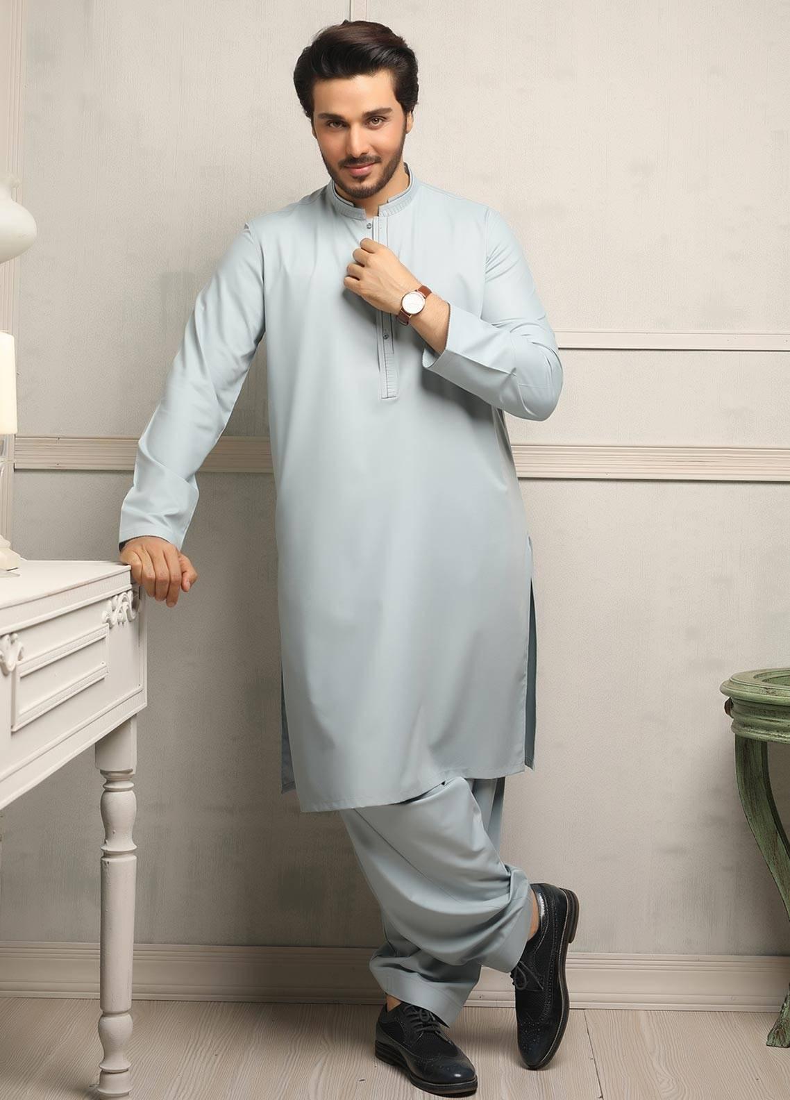 Safeer by Edenrobe EMUB18-IMPRESSION Blended Unstitched Men's Kameez Shalwar Fabric