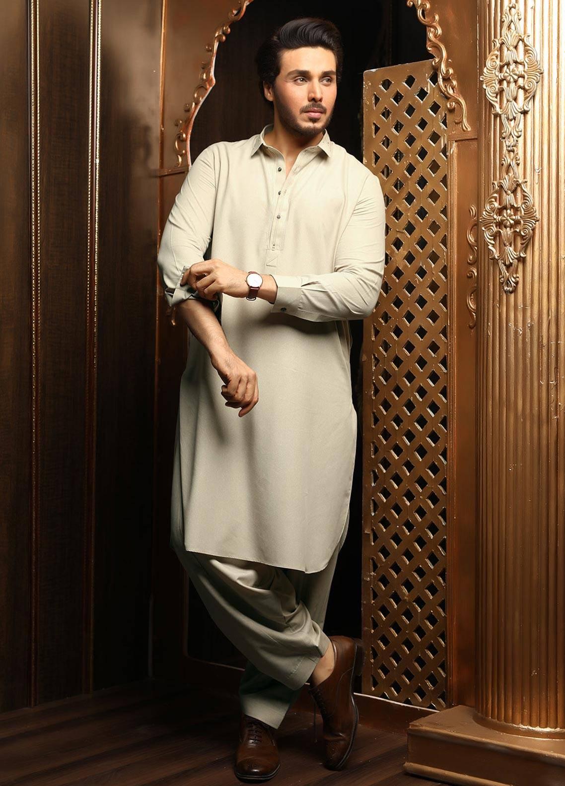 Safeer by Edenrobe EMUB18-INFINITY Blended Unstitched Men's Kameez Shalwar Fabric