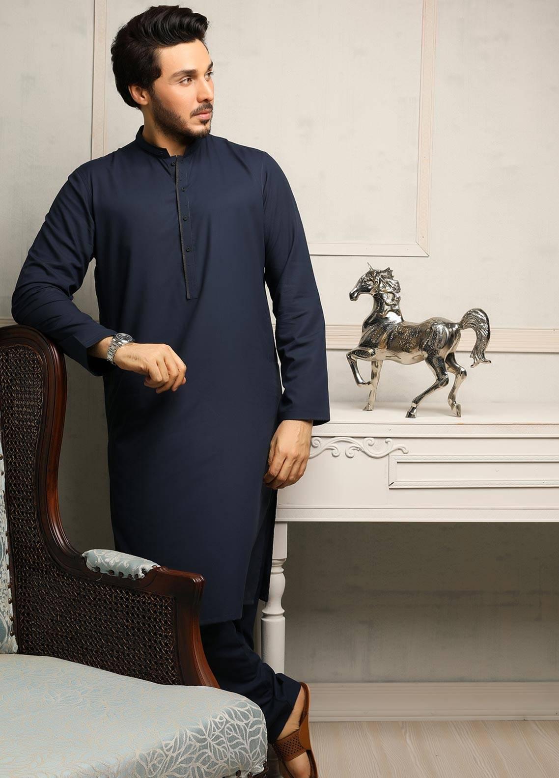 Safeer by Edenrobe EMUB18-PRESTIGE Blended Unstitched Men's Kameez Shalwar Fabric
