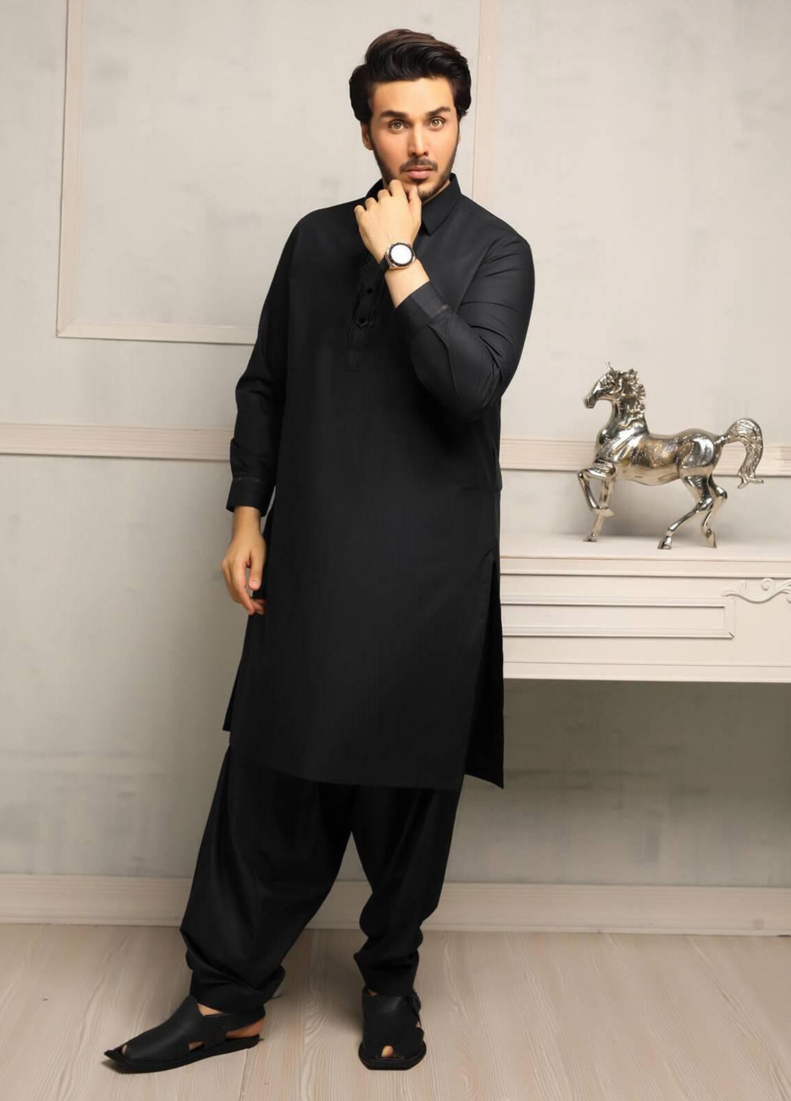 Safeer by Edenrobe EMUC18-DESIRE Cotton Unstitched Men's Kameez Shalwar Fabric