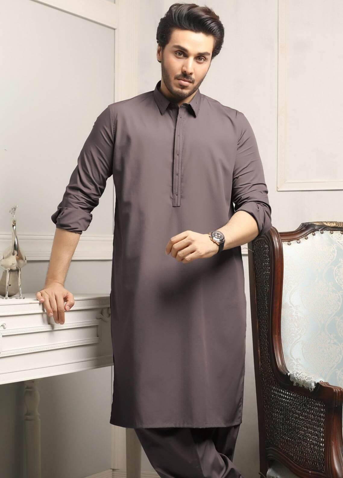 Safeer by Edenrobe EMUC18-ELEGANCE Cotton Unstitched Men's Kameez Shalwar Fabric