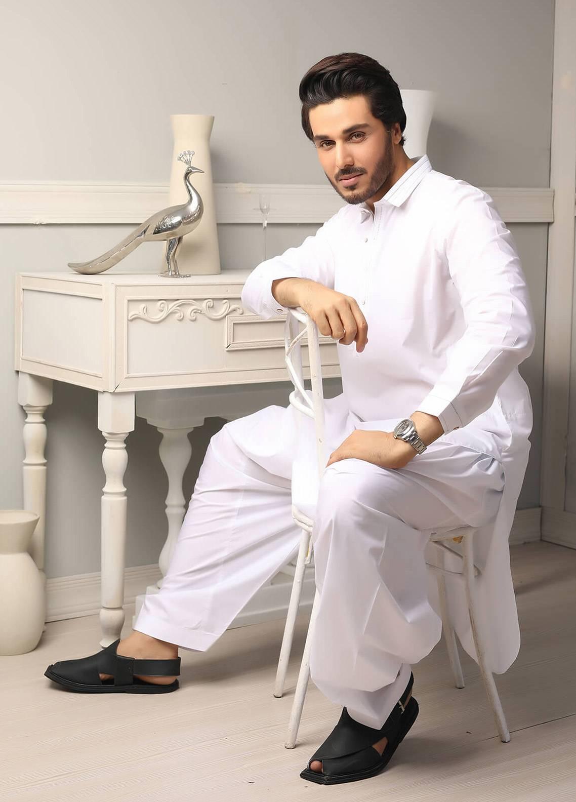 Safeer by Edenrobe EMUC18-FANTASY Cotton Unstitched Men's Kameez Shalwar Fabric