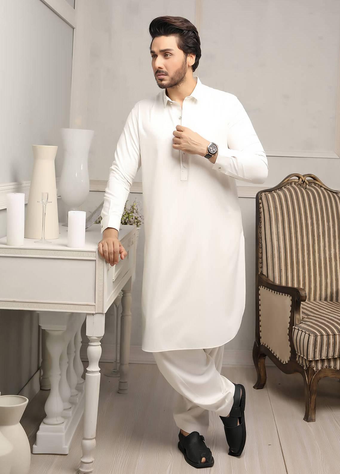 Safeer by Edenrobe EMUC18-IMPERIAL Cotton Unstitched Men's Kameez Shalwar Fabric