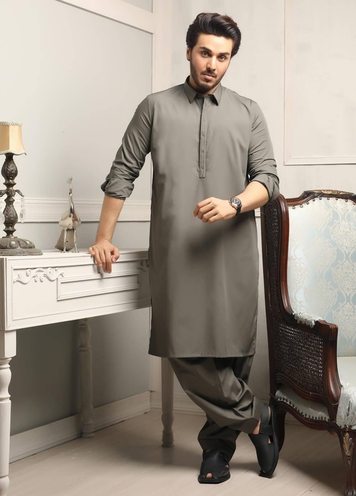 Safeer by Edenrobe EMUC18-MAJESTIC Cotton Unstitched Men's Kameez Shalwar Fabric