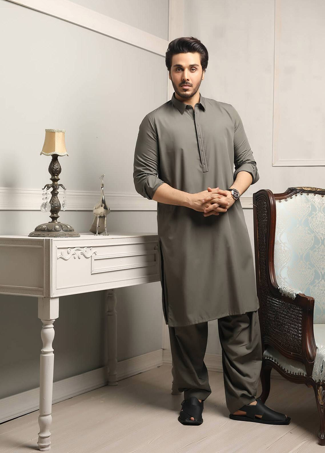 Safeer by Edenrobe EMUC18-REDIANCE Cotton Unstitched Men's Kameez Shalwar Fabric