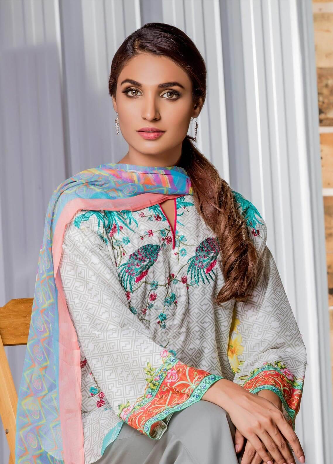 Sahil By ZS Textiles Embroidered Lawn Unstitched 3 Piece Suit SE18MS 14 - Mid Summer Collection