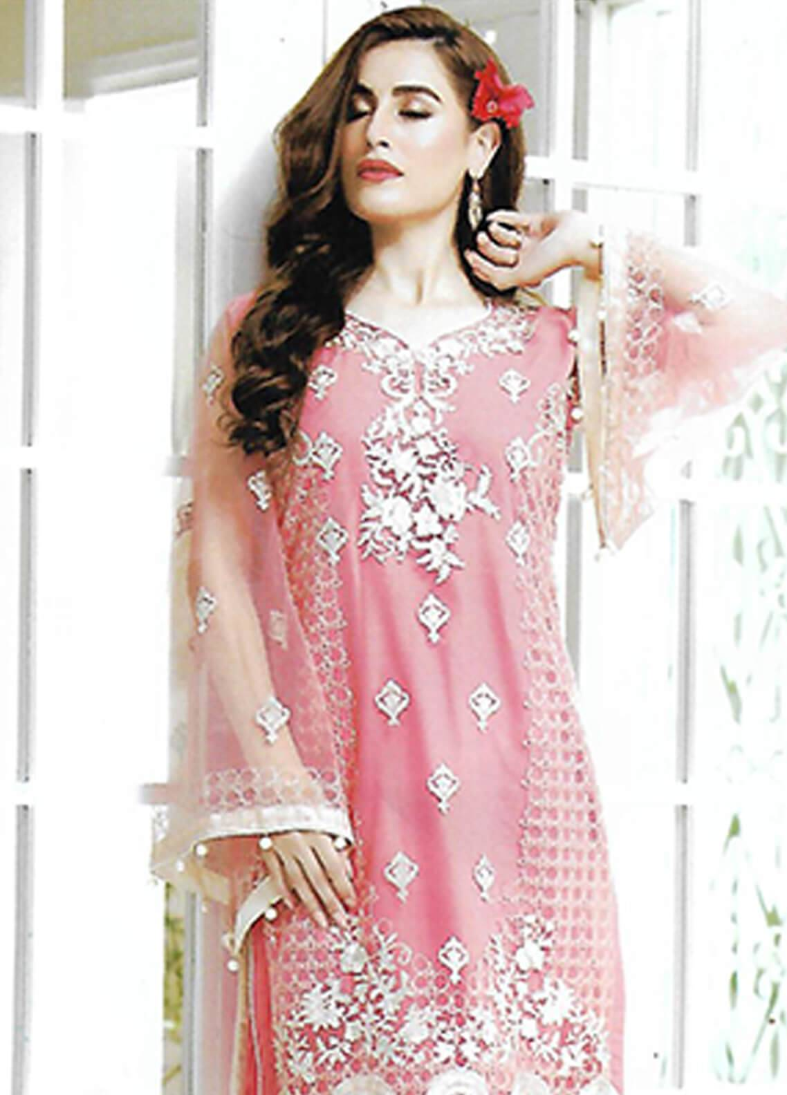 Sahil By ZS Textiles Embroidered Chiffon Unstitched Kurties SE18KC 04 - Mid Summer Collection