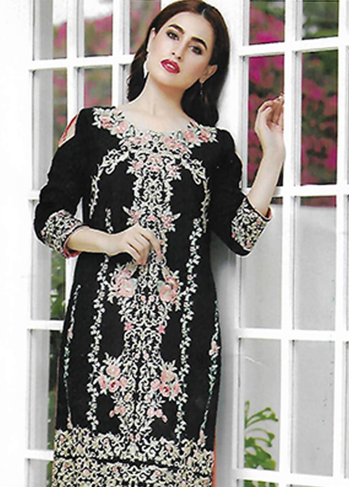 Sahil By ZS Textiles Embroidered Chiffon Unstitched Kurties SE18KC 07 - Mid Summer Collection