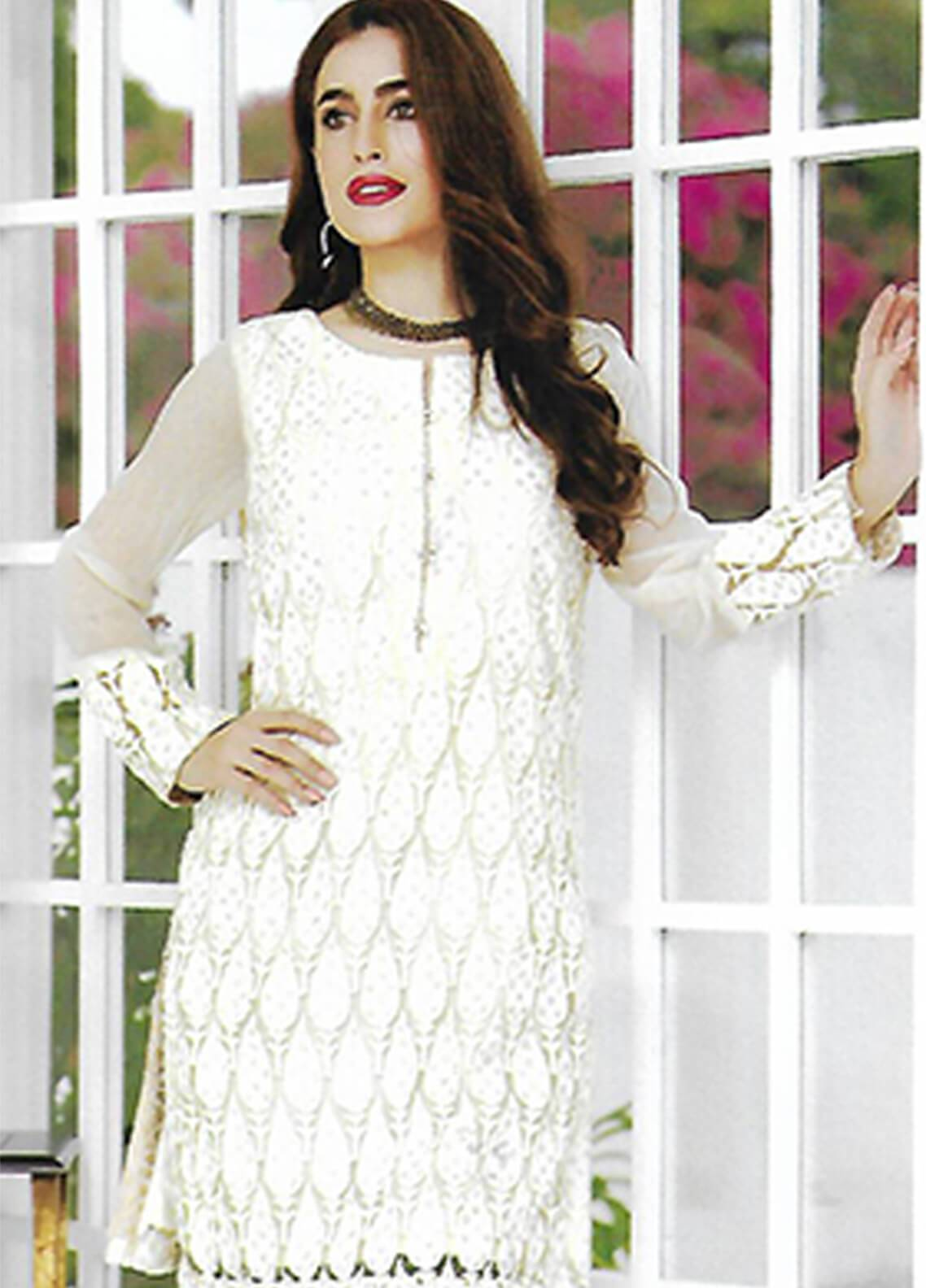 2d8673fed0 Sahil By ZS Textiles Embroidered Chiffon Unstitched Kurties SE18KC 08 - Mid  Summer Collection