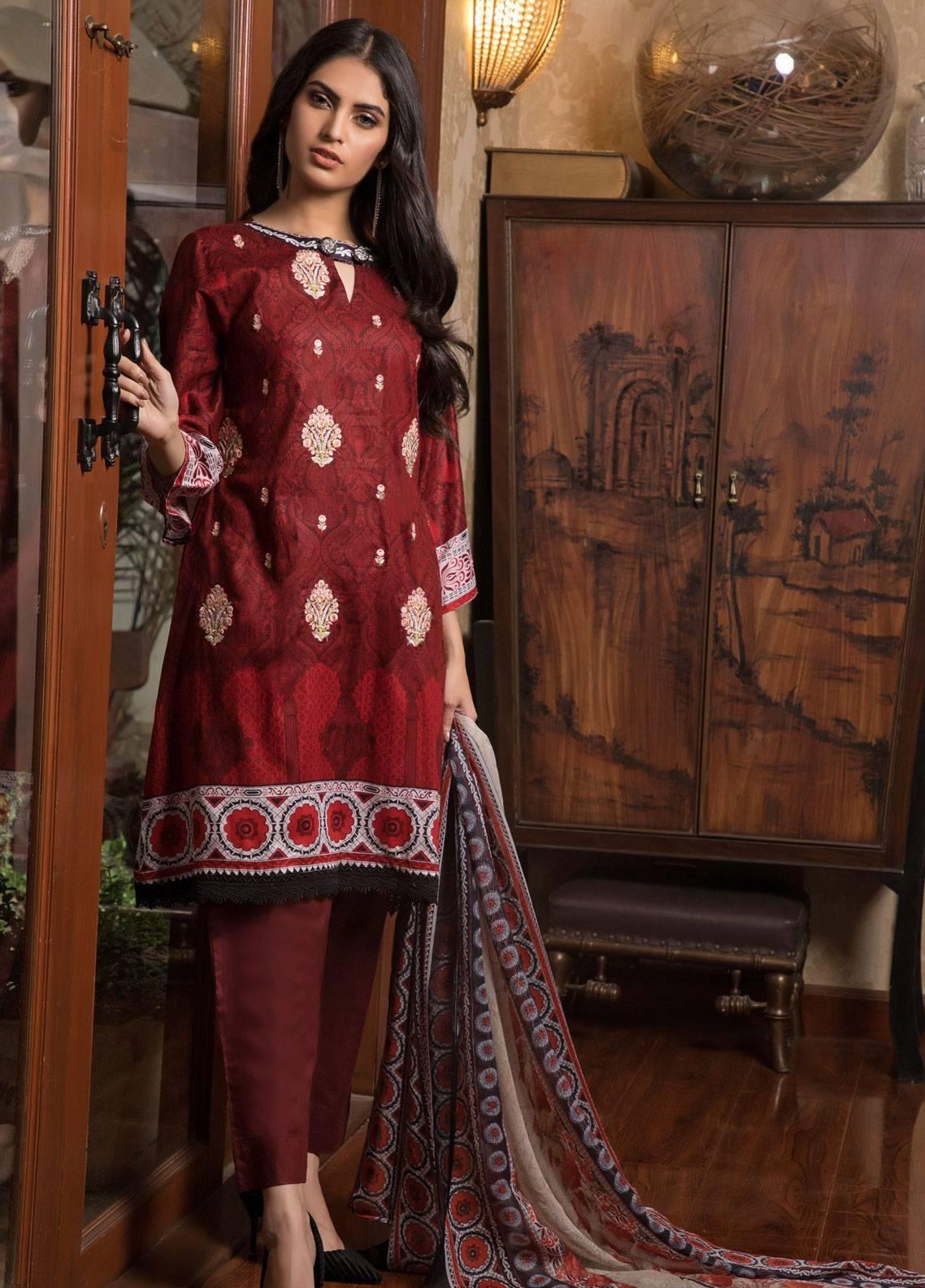 9d5183705d Sahil By ZS Textiles Embroidered Lawn Unstitched 3 Piece Suit SL19L 4A -  Spring / Summer