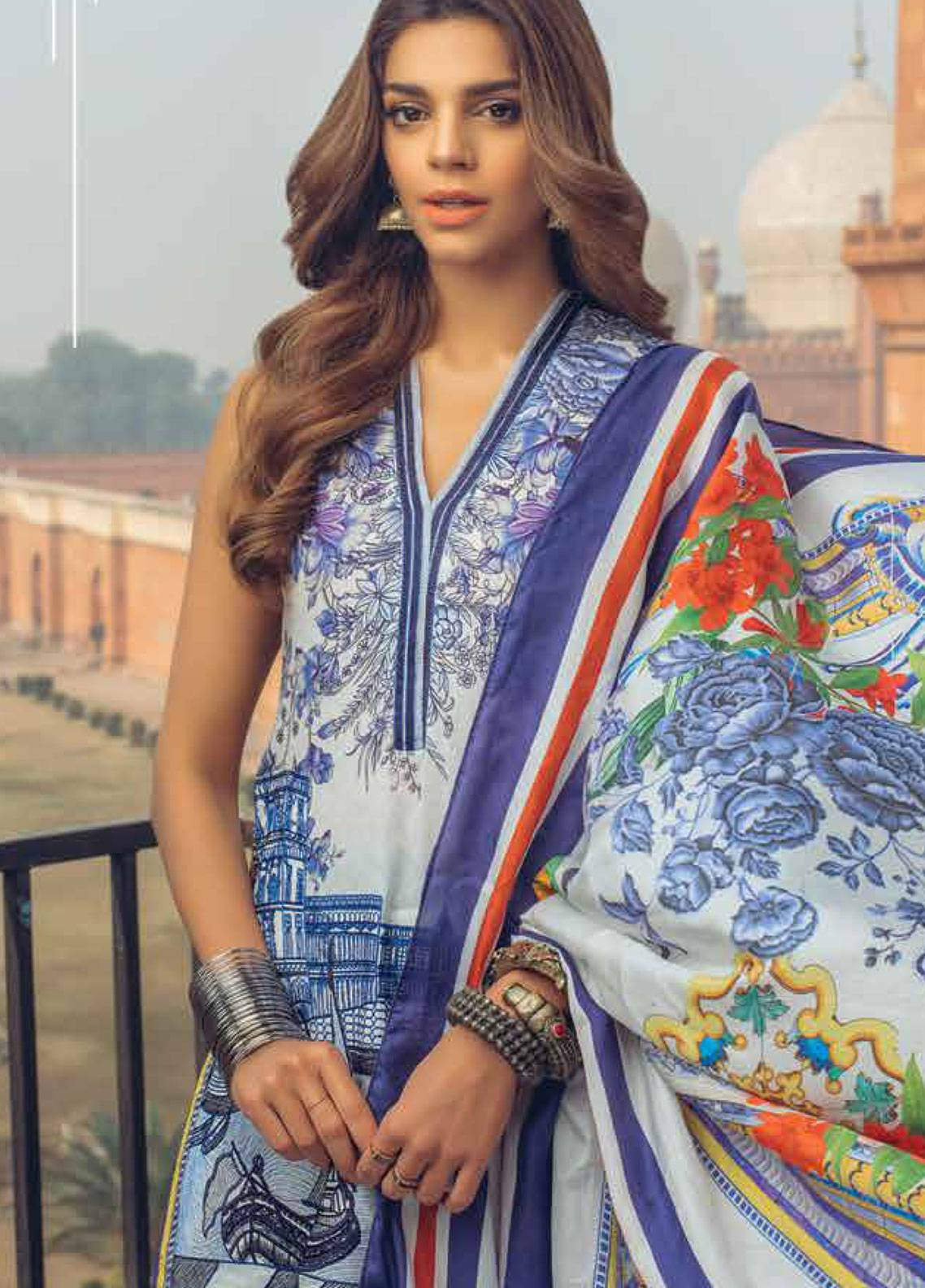 Saira Rizwan Embroidered Lawn Unstitched 3 Piece Suit SR19L 5 PARSHEEN - Spring / Summer Collection