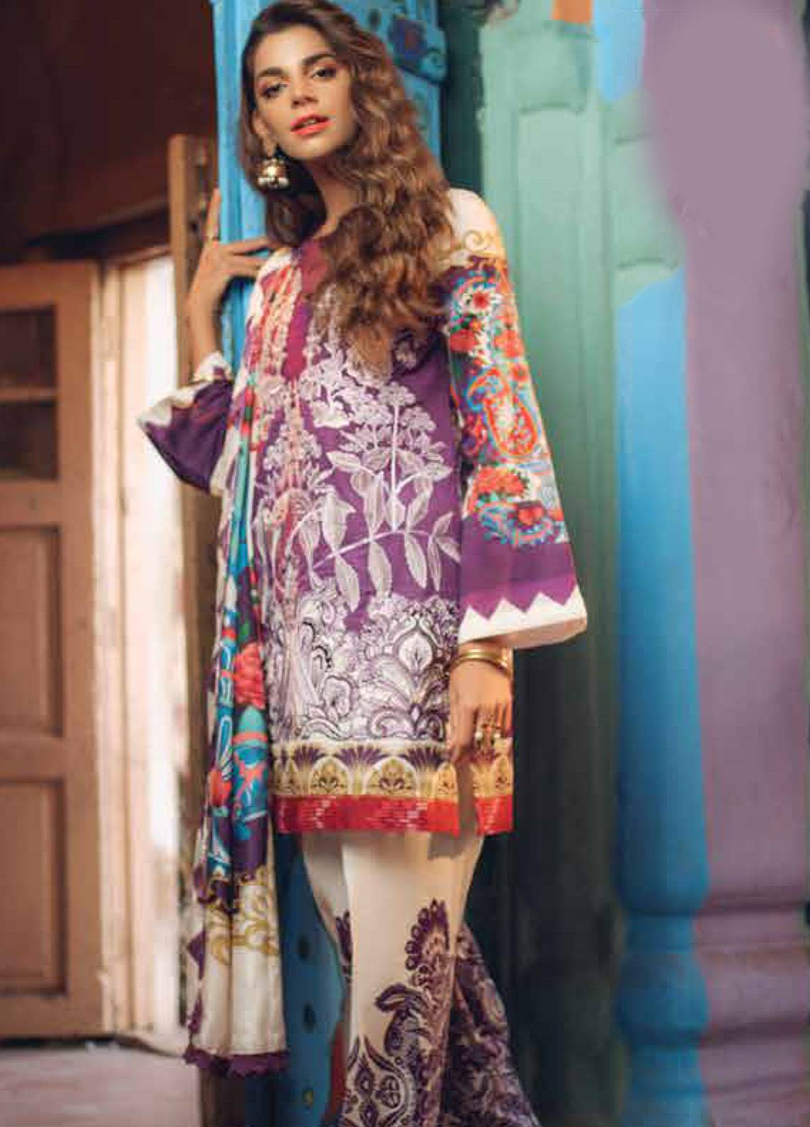 Saira Rizwan Embroidered Lawn Unstitched 3 Piece Suit SR19L 8 DHANAK - Spring / Summer Collection