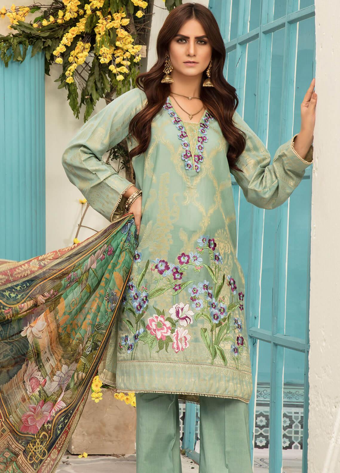 b849b76894 Sanoor by Noor Fatima Embroidered Jacquard Unstitched 3 Piece Suit SNO19F  124 - Festive Collection