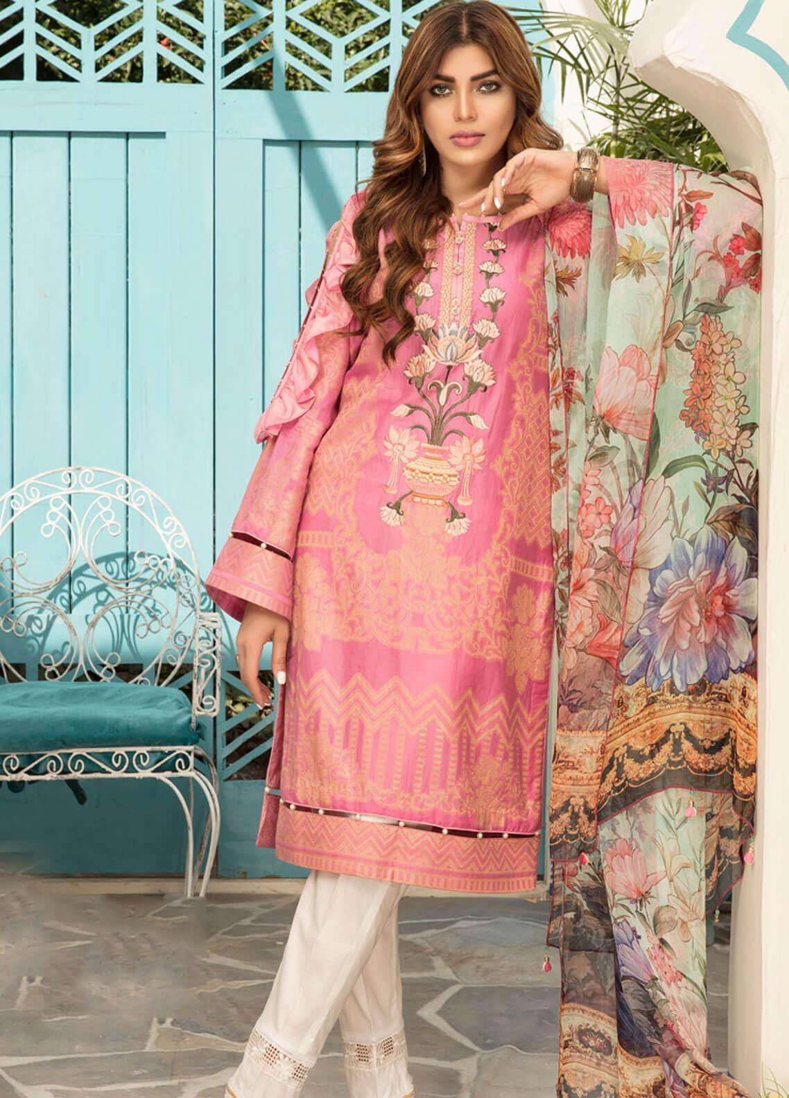 Sanoor by Noor Fatima Embroidered Jacquard Unstitched 3 Piece Suit SNO19F 126 - Festive Collection
