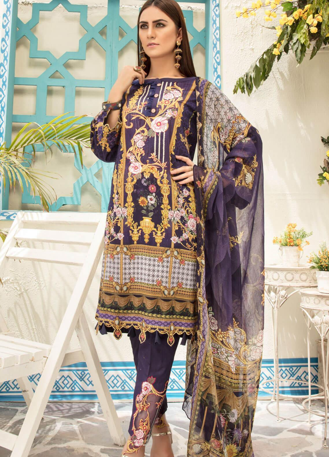 0b77c6d895 Sanoor by Noor Fatima Embroidered Lawn Unstitched 3 Piece Suit SNO19F 134 - Festive  Collection