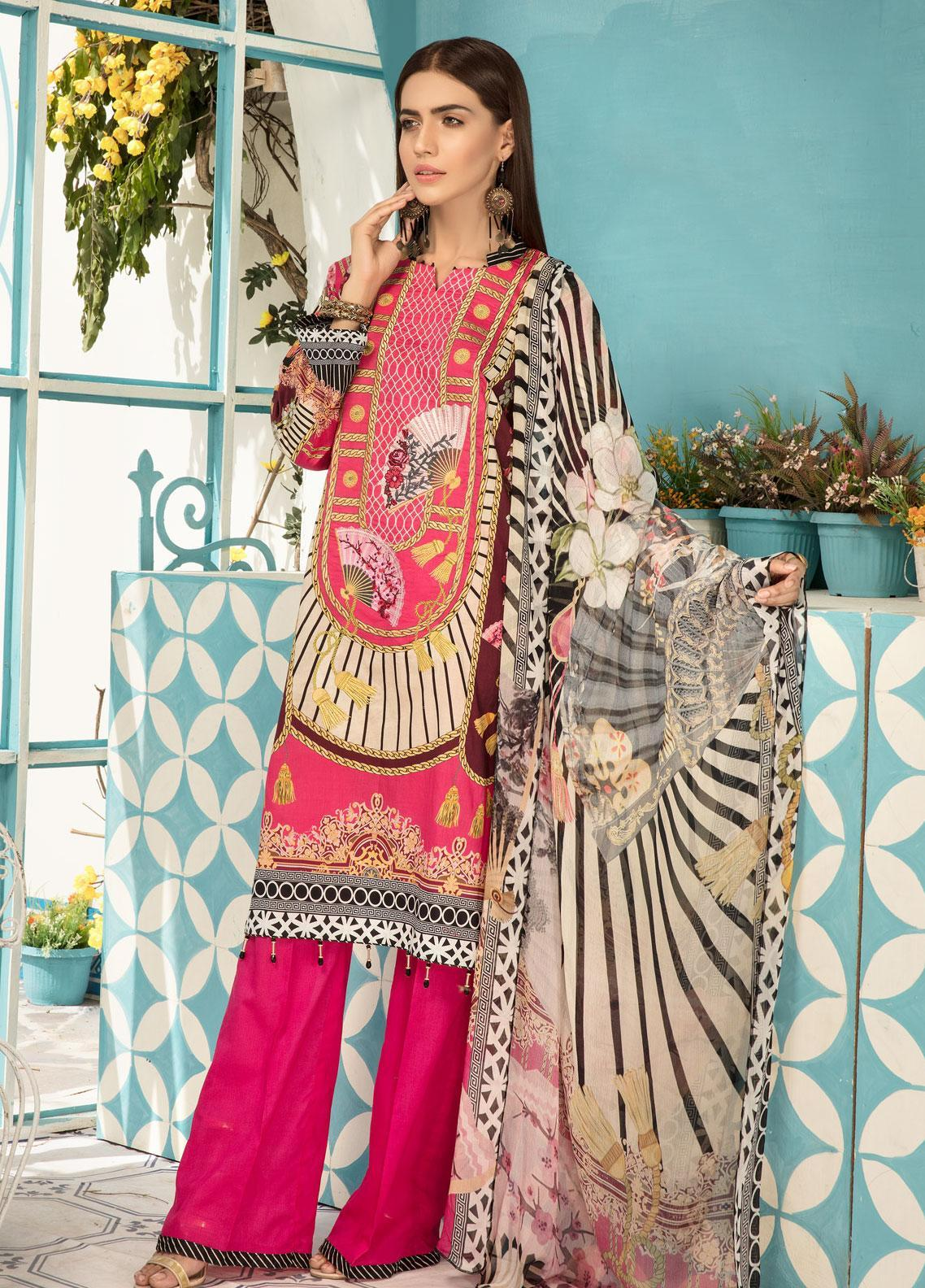 046290fff6 Sanoor by Noor Fatima Embroidered Lawn Unstitched 3 Piece Suit SNO19F 138 - Festive  Collection