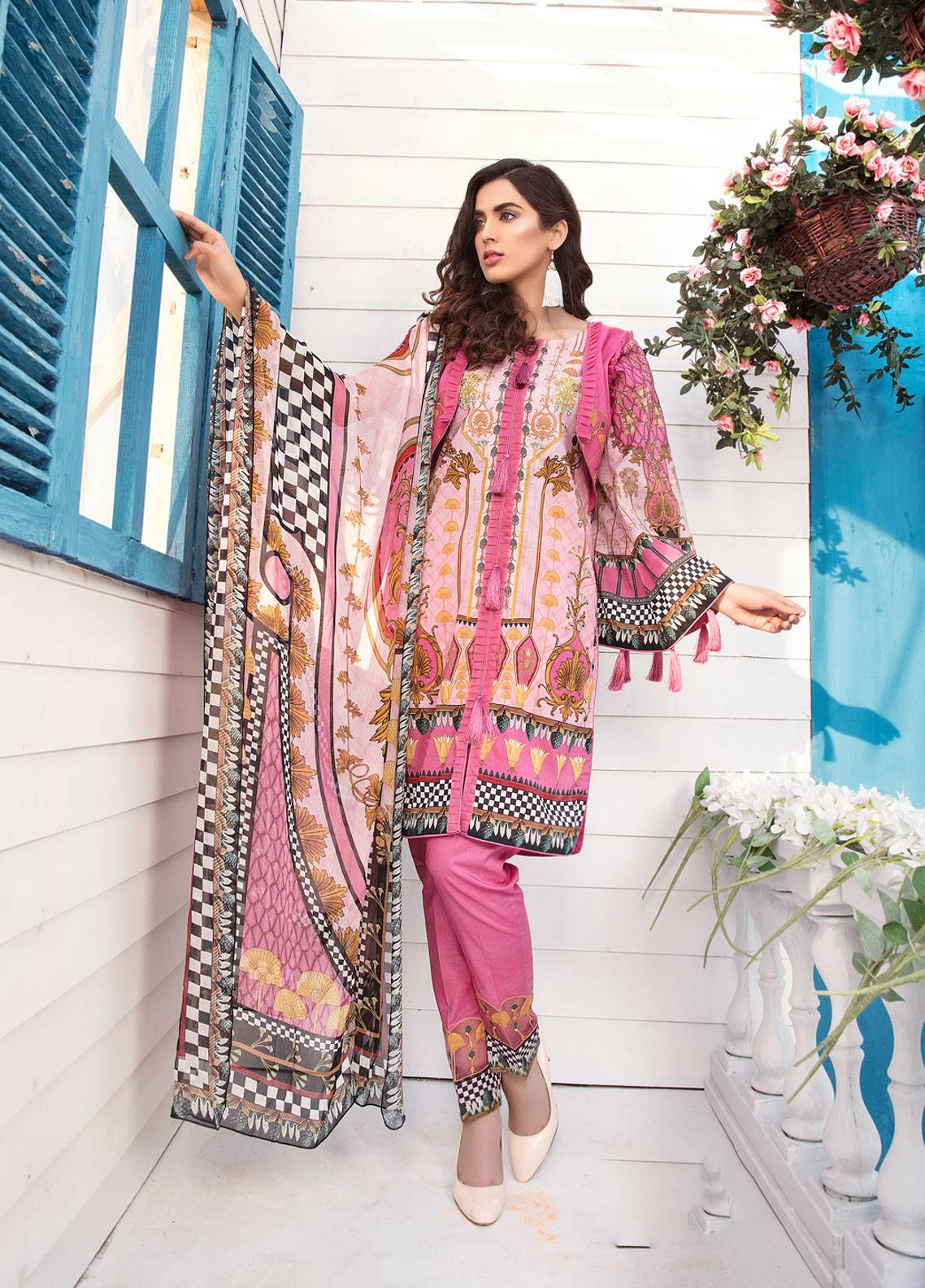 88864af567 Sanoor by Noor Fatima Embroidered Lawn Unstitched 3 Piece Suit SNO19-L1 123  - Spring