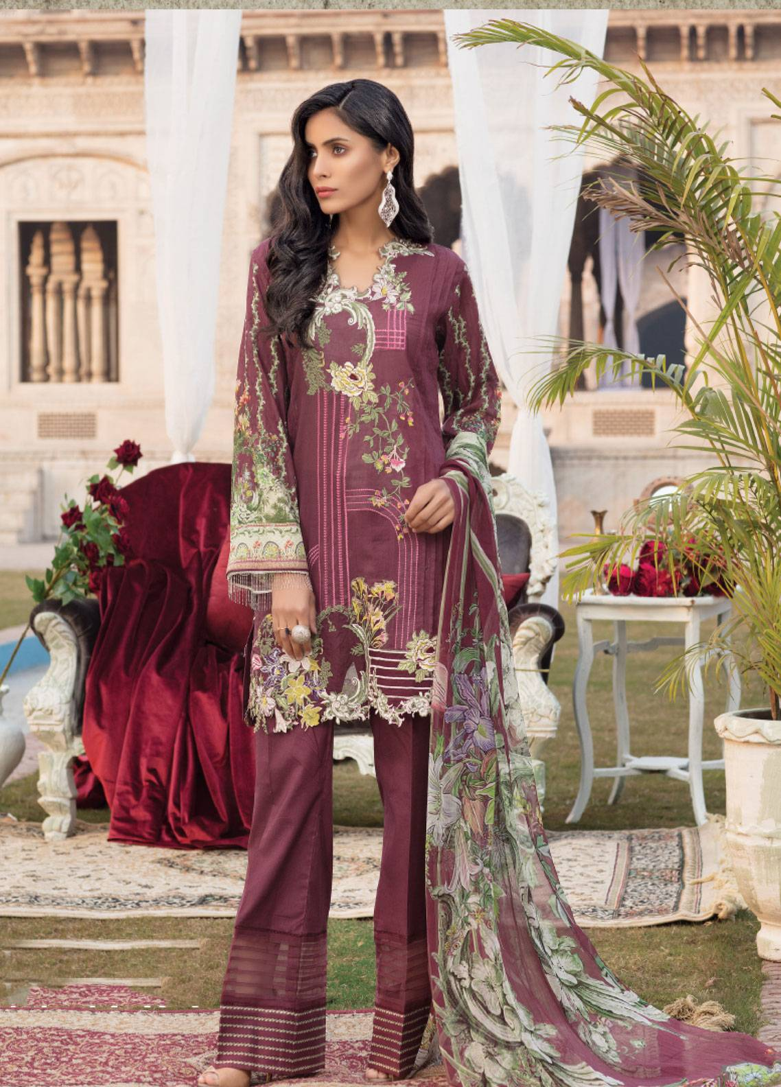 Sanoor by Noor Fatima Embroidered Swiss Voile Unstitched 3 Piece Suit SNF19SC 100 - Summer Collection