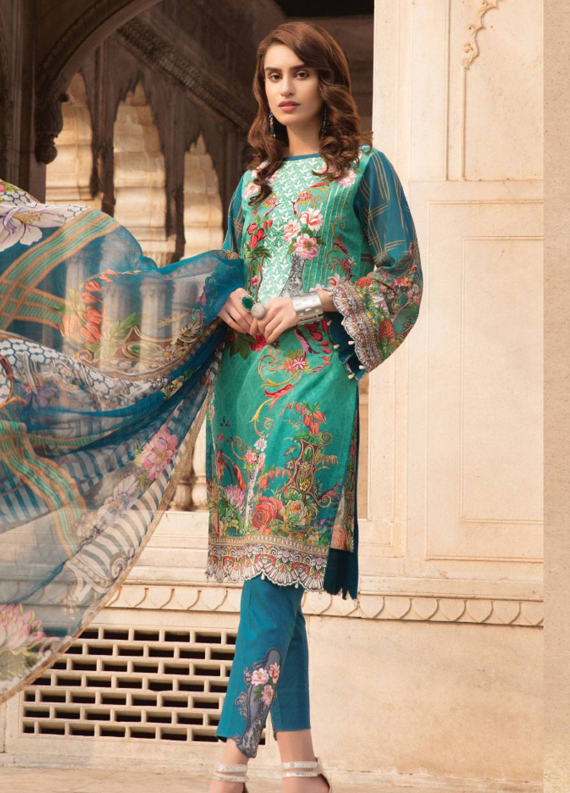 Sanoor by Noor Fatima Embroidered Swiss Voile Unstitched 3 Piece Suit SNF19SC 103 - Summer Collection