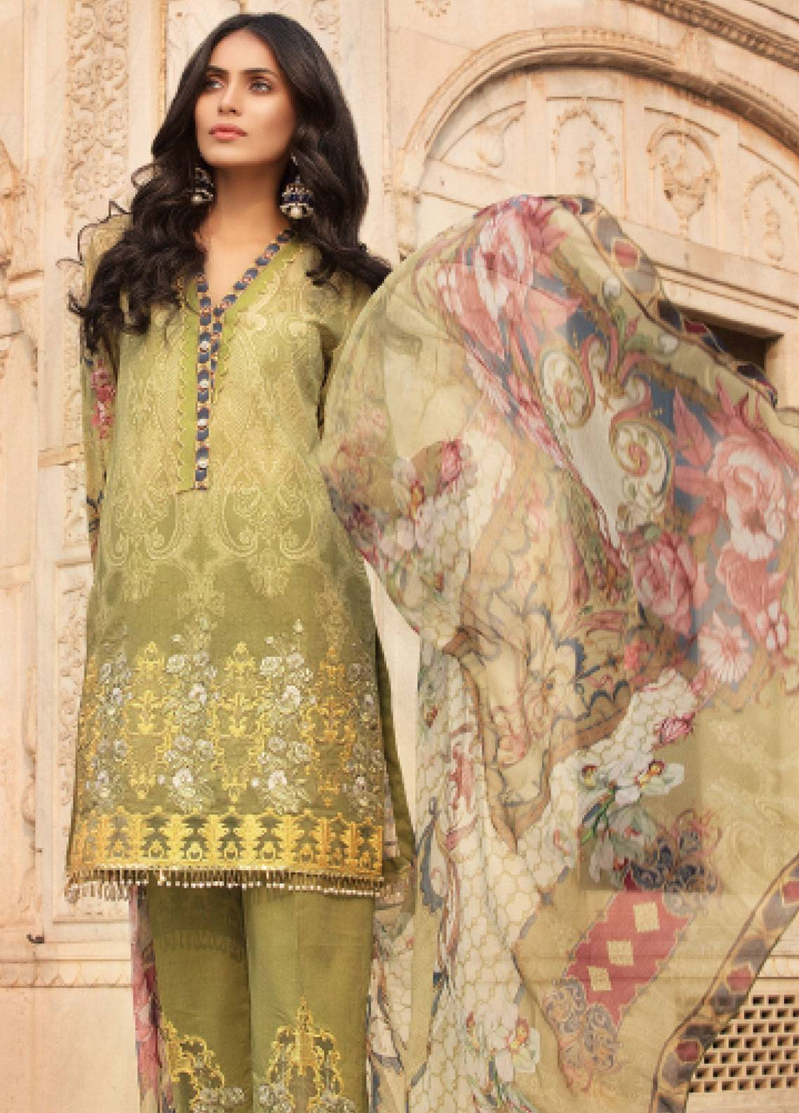Sanoor by Noor Fatima Embroidered Swiss Voile Unstitched 3 Piece Suit SNF19SC 104 - Summer Collection
