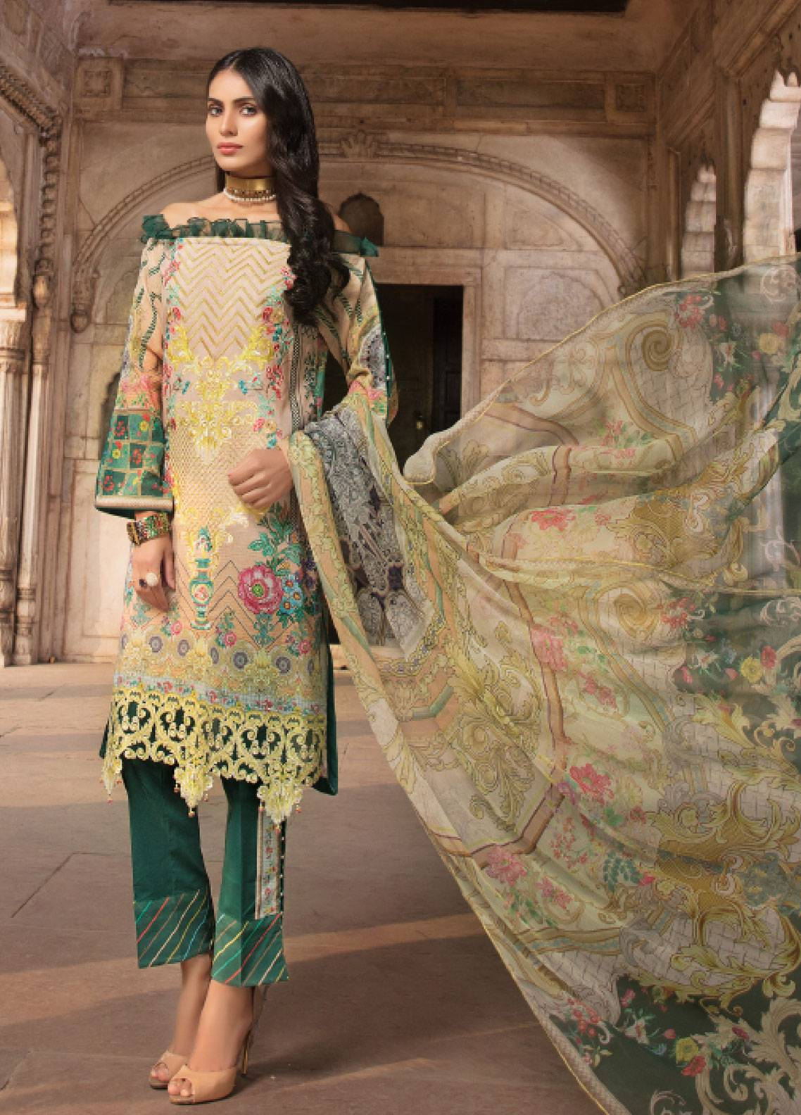 Sanoor by Noor Fatima Embroidered Swiss Voile Unstitched 3 Piece Suit SNF19SC 107 - Summer Collection