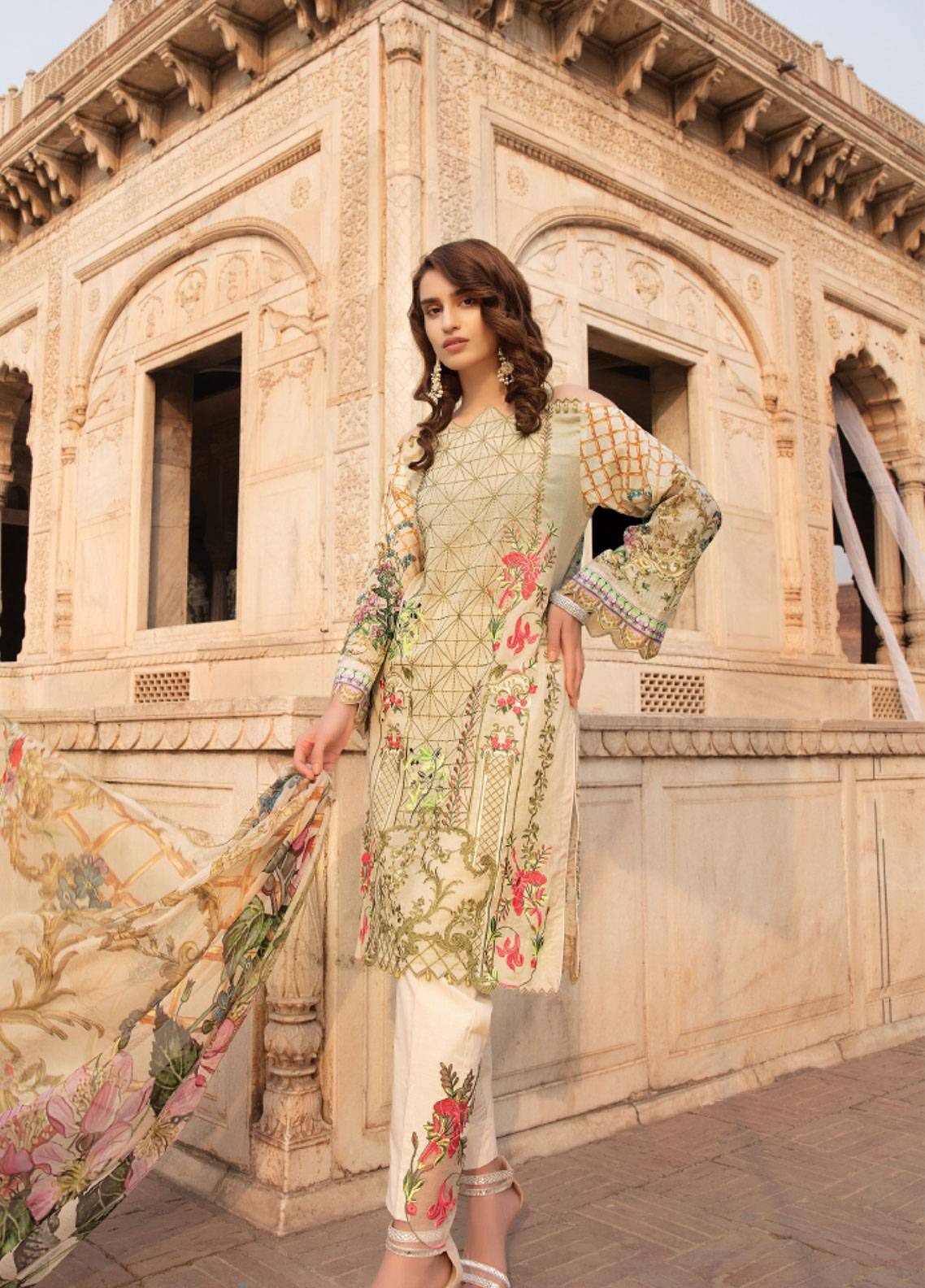 Sanoor by Noor Fatima Embroidered Swiss Voile Unstitched 3 Piece Suit SNF19SC 97 - Summer Collection