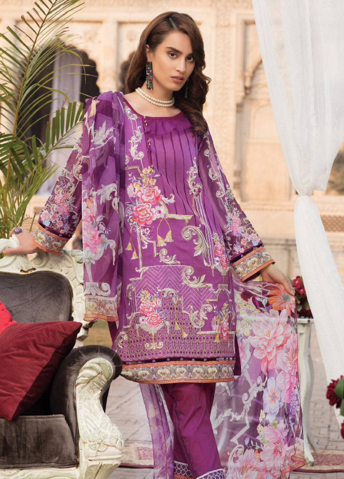 Sanoor by Noor Fatima Embroidered Swiss Voile Unstitched 3 Piece Suit SNF19SC 99 - Summer Collection