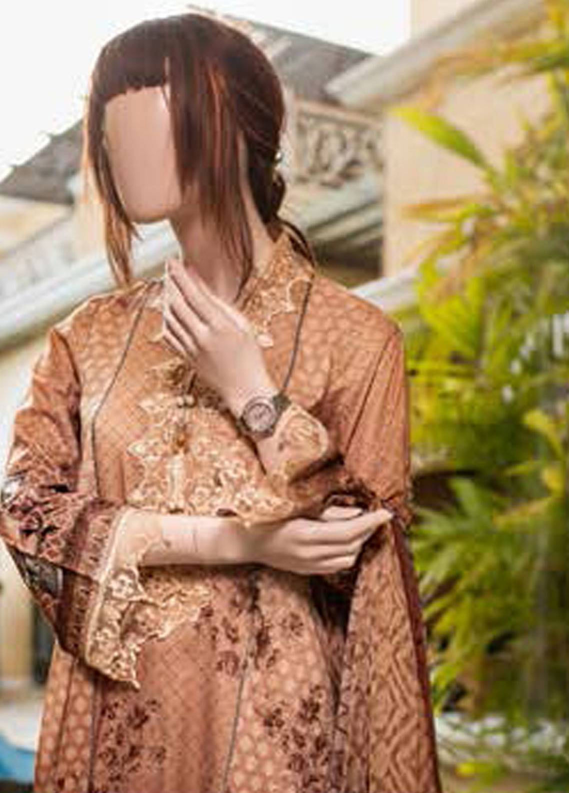 Saya Embroidered Lawn Unstitched 3 Piece Suit SY19-L2 1B - Spring / Summer Collection