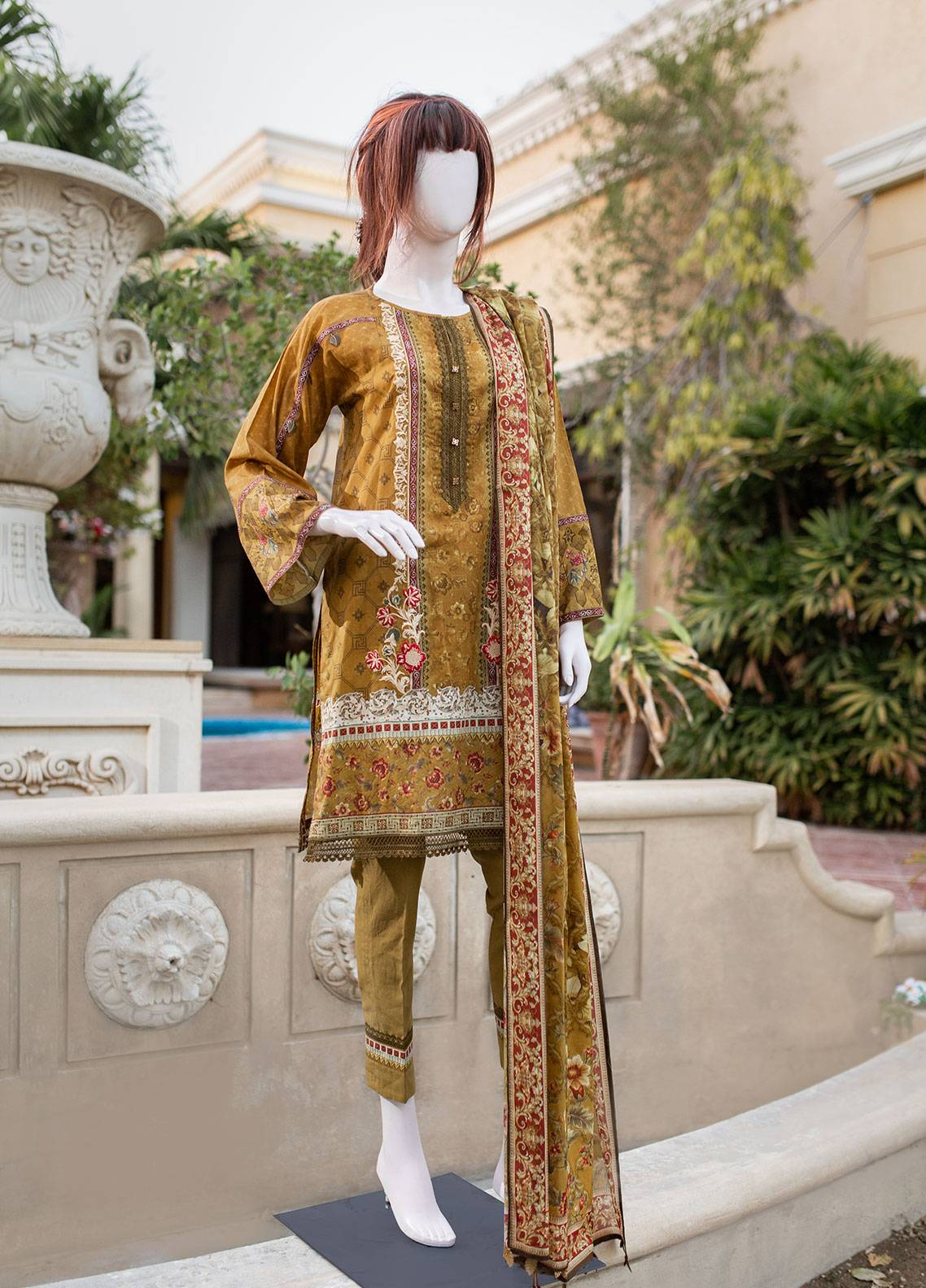 Saya Printed Lawn Unstitched 3 Piece Suit 05A OXYLUS - Spring / Summer Collection