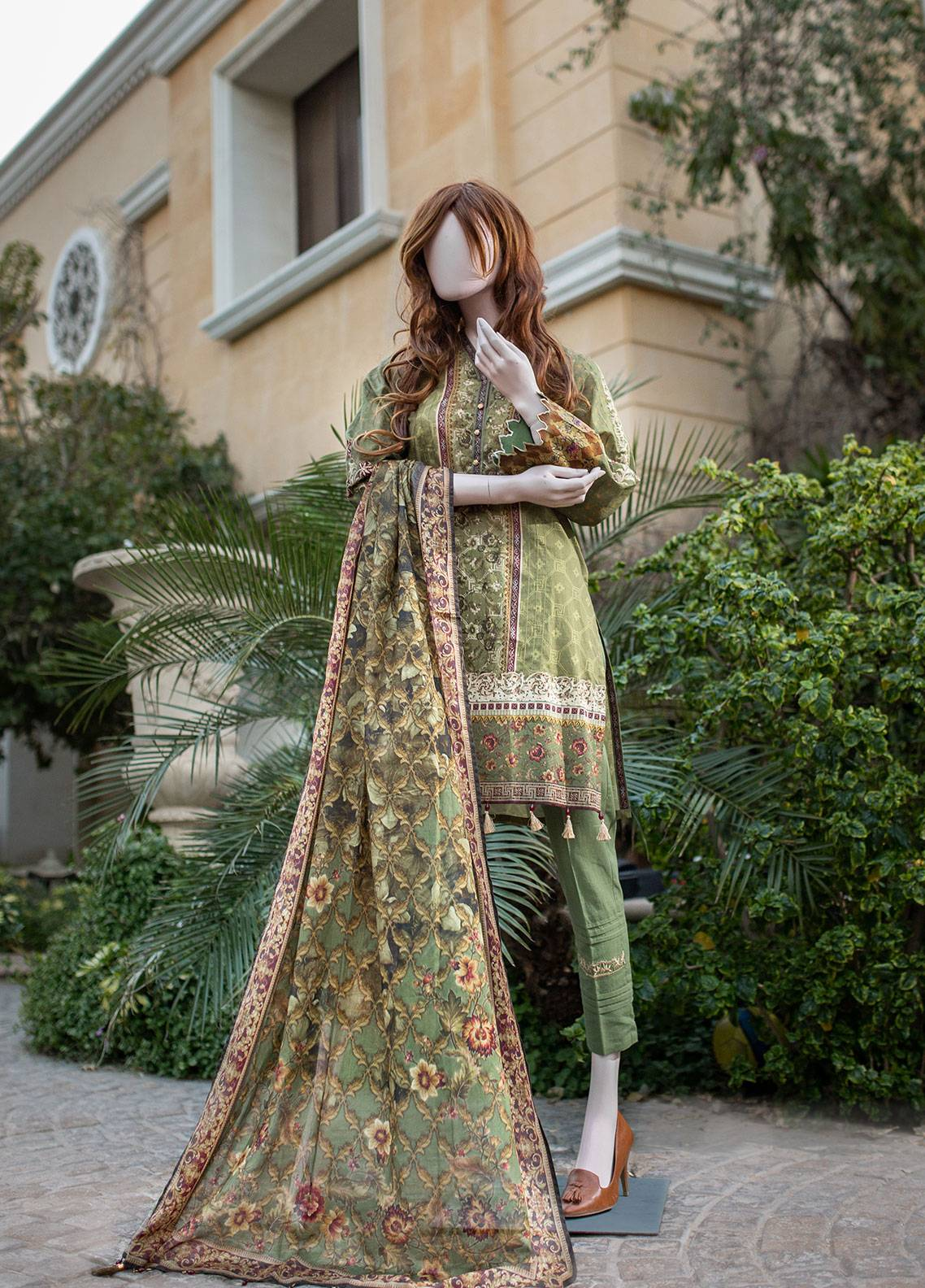 Saya Printed Lawn Unstitched 3 Piece Suit 05C OXYLUS - Spring / Summer Collection