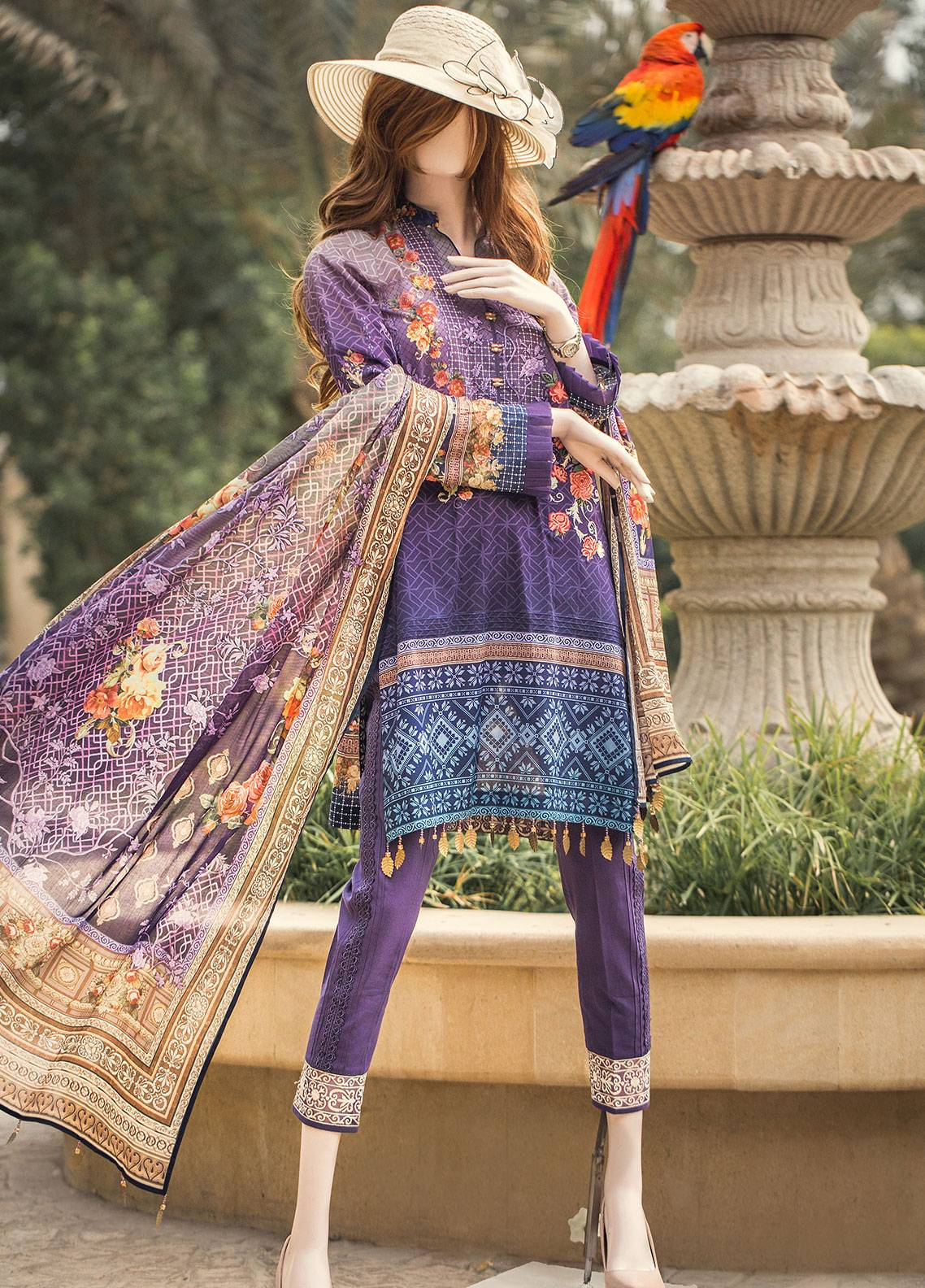 Saya Printed Lawn Unstitched 3 Piece Suit 06B AURAE - Spring / Summer Collection