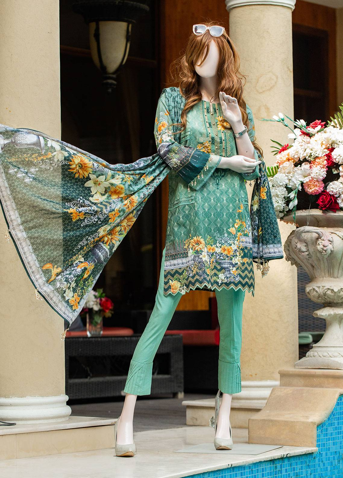 Saya Printed Lawn Unstitched 3 Piece Suit 07C CERES - Spring / Summer Collection