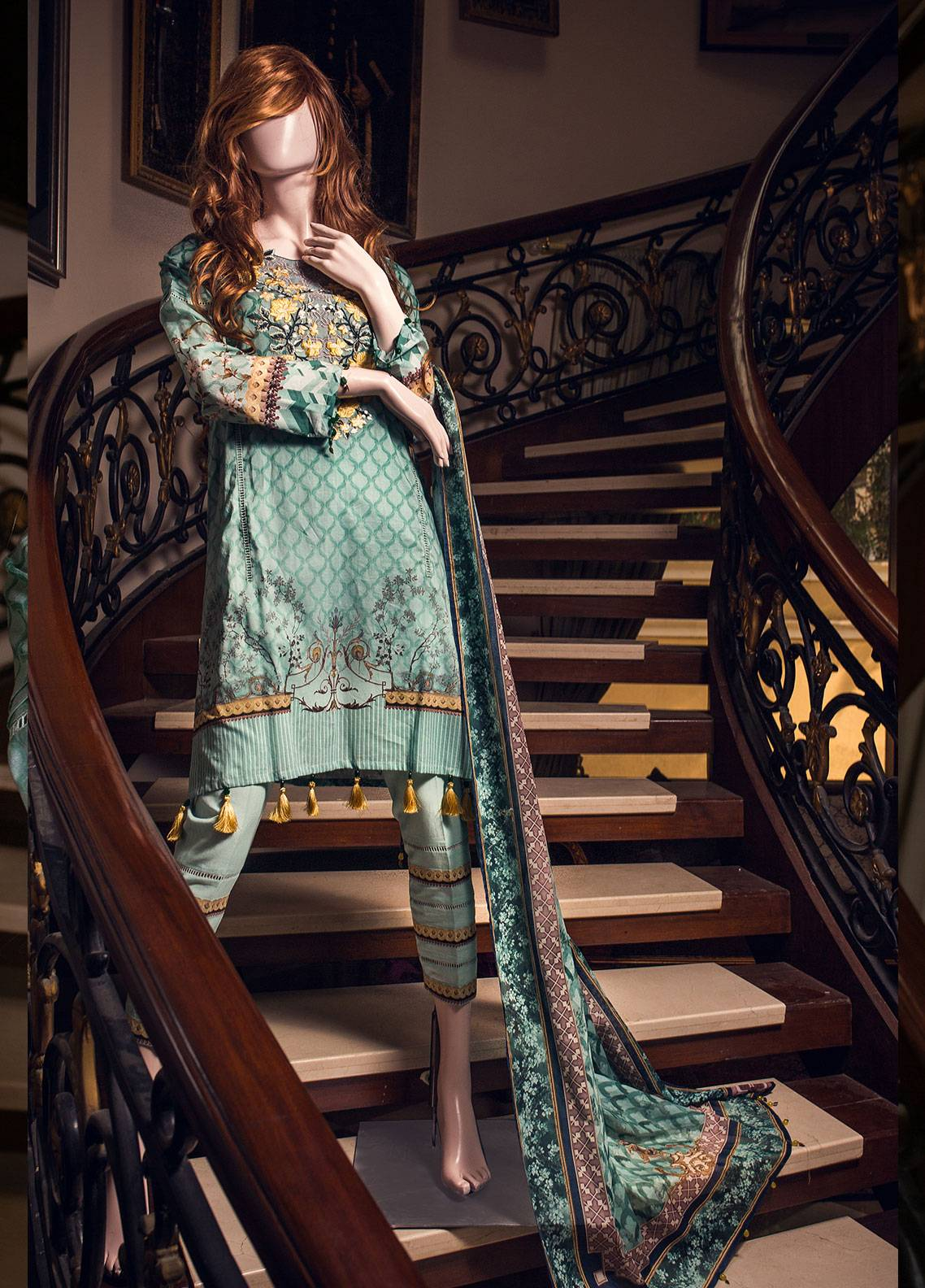 Saya Printed Lawn Unstitched 3 Piece Suit 10B GAEA - Spring / Summer Collection